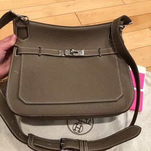 Hermès Jypsiere 28 etoupe bag